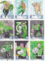 new 52 latern (mostly) sketch cards by refineib73