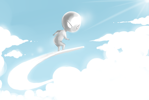 Chibi Silver Surfer by JJ-Power