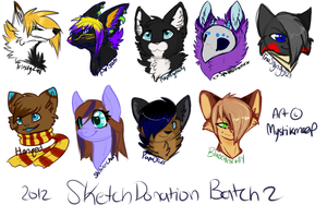 2012 donation sketch headshots by MystikMeep
