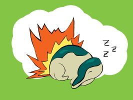 Cyndaquil by thelilartist