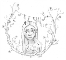 The Forest Girl by seven11ART