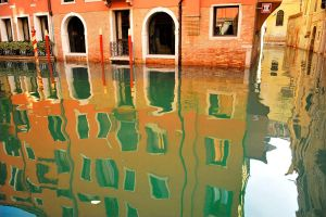 Venice - canal reflections 3 by wildplaces