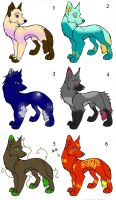 Adoptables batch! FREE -closed- by Miss-Ellanius
