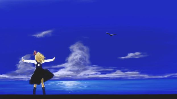 Rumia in the 'AIR' by nisemono-mbby