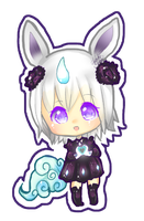 Chibi for Onisuu - oniicorn by HoneyDoodles