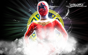 Sentai Ohranger Oh Red Wallpaper by ShoguN86