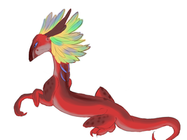 Lil wingless dragon by Whitelupine