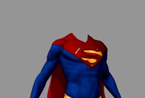 Superman Suit Redesign WIP by BrandonMicheals