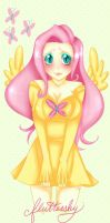 Fluttershy looking so cute by CaptainKaddy