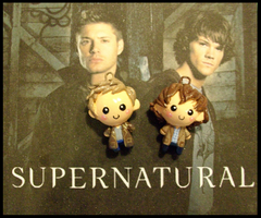Chibi-Charms: Supernatural Duo by MandyPandaa