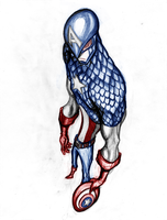 fan art capitan america by elf-x