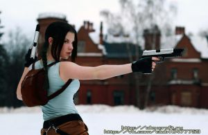 Lara Croft cosplay-croft manor by Anastasya01