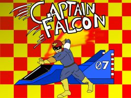 Captain Falcon as Speed Racer by spacepig22