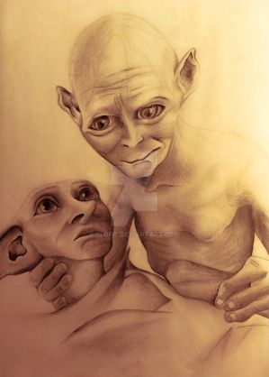 Gollum and Dobby and their precious love... by blufie