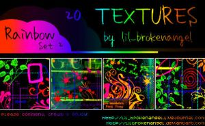 Textures - Rainbow Set 2 by lilbrokenangel