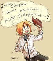 APH: mr. cellophane by BearWithGlasses