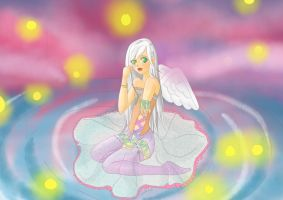 Kaelano as an angel by Liaelin