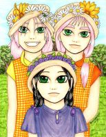 Sisters at an Outdoor Wedding by PenumbraChey