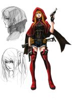 Outlaw Players character concept : Lysea by shonensan