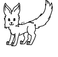 Fox lineart by Who-Butt