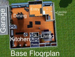House 3 Base Floor-plan by arymay2013