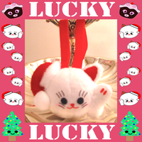 Lucky Kitty Christmas Ornament by Squisherific
