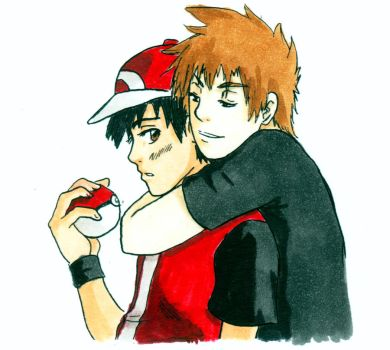 Pokemon: RedXGreen by xYaminogamex