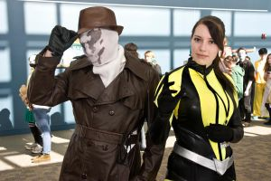 Rorschach and Silk Spectre by DocWatsonMD