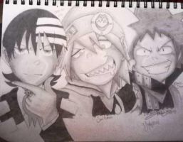 Death the Kid, Soul, Black Star by ErikaEsther