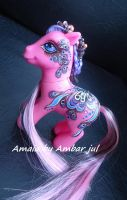 My little pony custom butterfly Amaia by AmbarJulieta