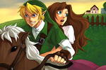 oot: link and malon by esuri