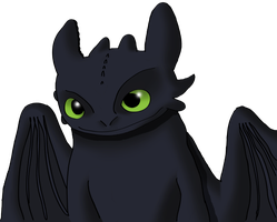 Toothless Smiling by juanito316ss