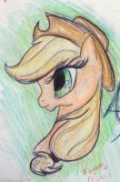 Applejack Closeup by flufffur