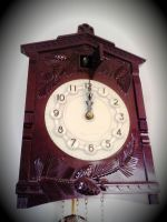 Old Clock close up by Christiania-unica