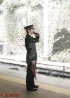 Train station guy in Japan by InuDran