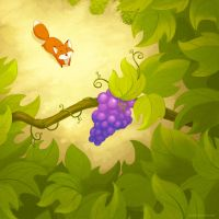 The Fox and the Grapes by autogatos