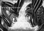Loki and Thor by lupinemagic