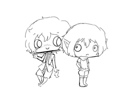 Commission progress Rory and Kellin by mayakins23