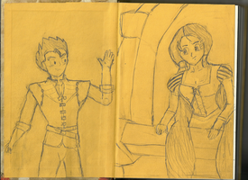 Gohan and Videl - Tangled by SailorIronMare