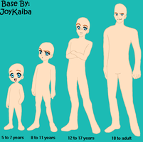 Base: Male Age Sheet by JoyKaiba