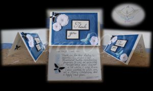 Blue Rose - Thank You Card Design by FerrerTriple0