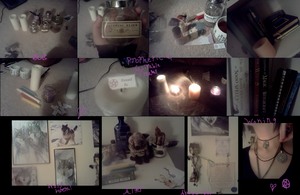 Wicca altar and magick by LightsChips