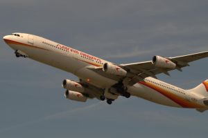 Surinam Airways A340 by Mistralcloudy