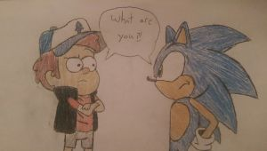 Gravity Falls Sonic Crossover by Drawingnow13