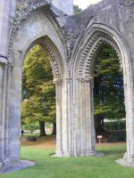 Glastonbury Abbey 42 by LadyxBoleyn