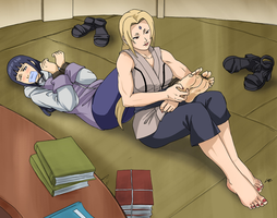 Hinata tied up and gagged by Tsunade by RopeLover96