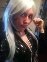 Black Cat - Wig test by SajikaCosplay