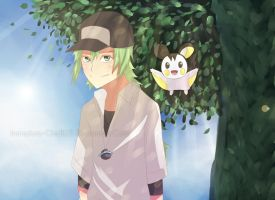 Pokemon Black- N by Immature-Child02