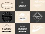 9 retro Vintage Logos Badges free psd by kadayoub