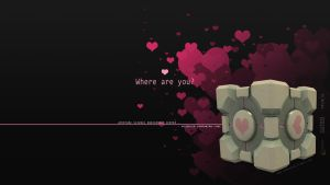 Companion Cube 16:9 by WallpaperGuy